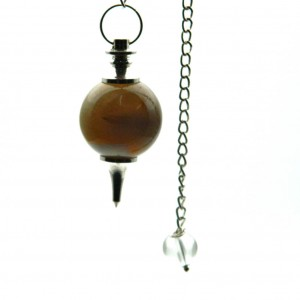 Natural Agate Crystal Pendulum