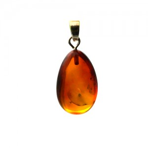 Natural Amber Gemstone Pendant