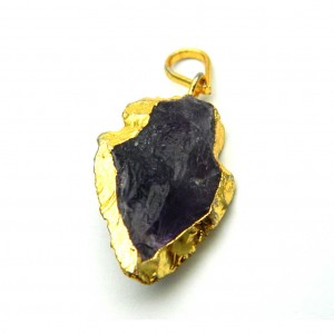 Natural Amethyst Crystal Pendant (Arrow-Head)