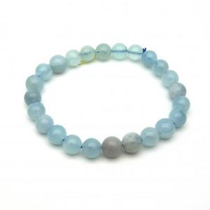 Natural Aquamarine Beads Bracelet