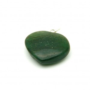 Natural Green Aventurine Quartz Crystal Heart Shape Pendant