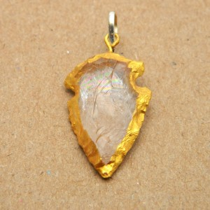 Natural Crystal Quartz Pendant (Arrow-Head)