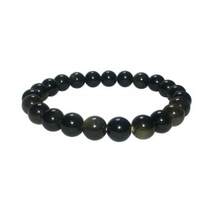 Natural Obsidian Gemstone Bracelet