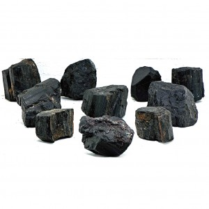 Natural Black Tourmaline Rough Stones