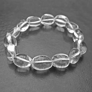 Natural Rock Crystal Tumbled Beads Bracelet