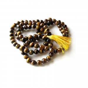 Natural Tiger Eye Beads String Mala (24 Inch)