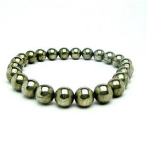 Natural Pyrite Gemstone Bracelet