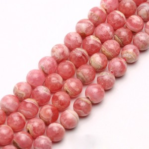 Natural Rhodochrosite AAA Quality Gemstone Beads String