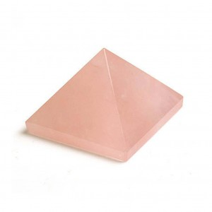 Natural Rose Quartz Crystal Pyramid
