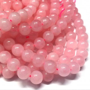 Natural Rose Quartz AAA Quality Gemstone Beads String