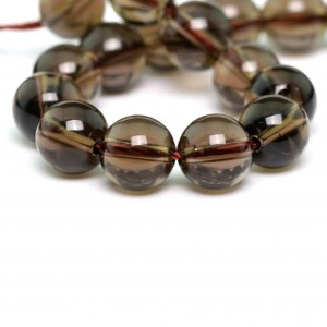 Natural Smoky Quartz Stone Beads String Mala (24 Inch)