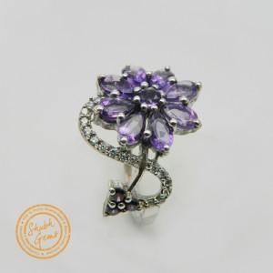 Amethyst (Katela) Silver Ring