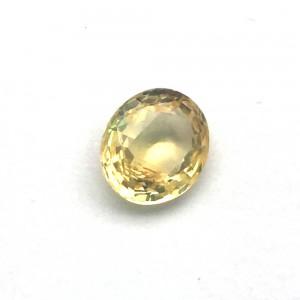 2.42 Carat/ 2.68 Ratti Natural Ceylon Yellow Sapphire (Pukhraj) Gemstone