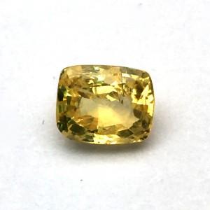 2.59 Carat/ 2.87 Ratti Natural Ceylon Yellow Sapphire (Pukhraj) Gemstone