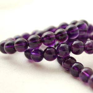 Natural Amethyst 108 Beads Japa Mala Rosary