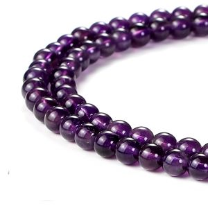 Natural Amethyst AAA Quality Gemstone Beads String