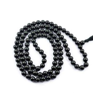 Natural Black Obsidian108 Beads Japa Mala Rosary
