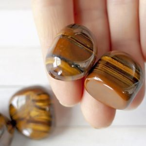 Natural Tiger Eye Healing Crystal Tumbled Stones