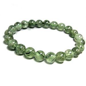Natural Green Rutilated Gemstone Bracelet
