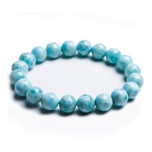 Natural Larimar Beads Bracelet