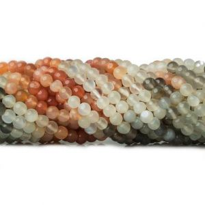 Natural Multicolor Moonstone AAA Quality Gemstone Beads String