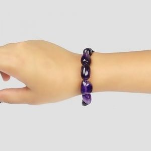 Natural Amethyst Tumbled Beads Bracelet