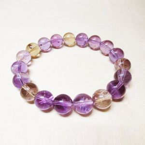 Natural Ametrine Crystal Beads Bracelet