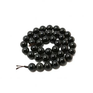 Natural Black Tourmaline AAA Quality Gemstone Beads String