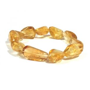 Natural Citrine Tumbled Beads Bracelet