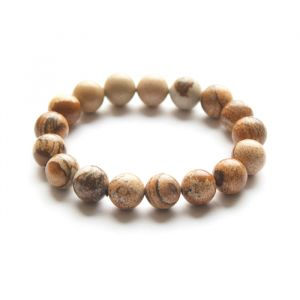 Natural Pitcher Jasper  Beads Bracelet