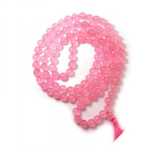 Natural Rose Quartz 108 Beads Japa Mala Rosary