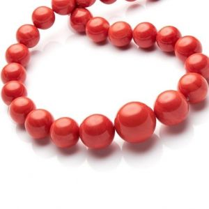 red coral beads moonga bracelet