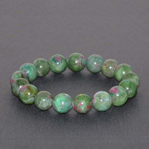 Natural Ruby Zoisite Gemstone Bracelet