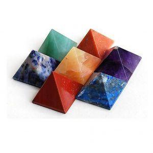 7 Chakra Crystal Pyramid Set