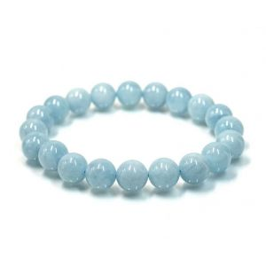 Natural Aquamarine Beads Bracelet