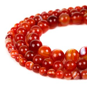 Natural Carnelian AAA Quality Gemstone Beads String