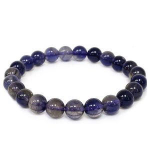 Natural Iolite Crystal Bracelet