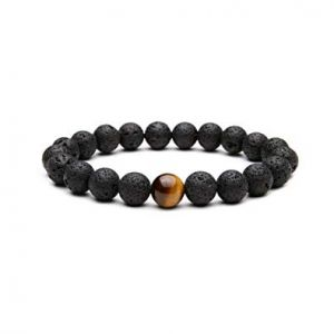 Natural Lava Stone Beads Bracelet