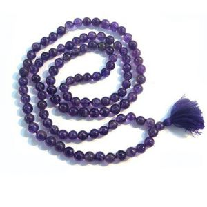 Natural Amethyst Beads String Mala