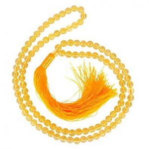 Natural Citrine Beads String Mala (24 Inch)
