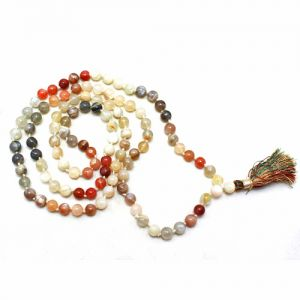 Natural Multicolor Moonstone Beads String Mala