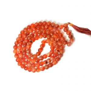 Natural Carnelian Beads String Mala (24 Inch)