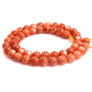 Natural Sunstone AAA Quality Gemstone Beads String