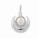 Half Moon Pearl Pendant with Silver